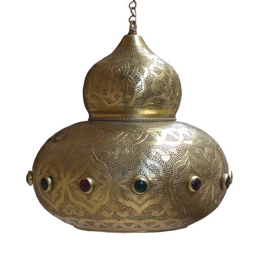 Hanging Moroccan Pendant Lights, Solid Brass
