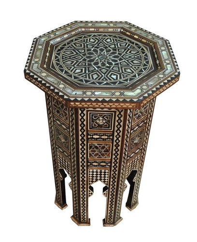 Moroccan Mother of Pearl Telephone End Table