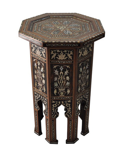 Persian Mother of Pearl Wood Coffee Side End Table