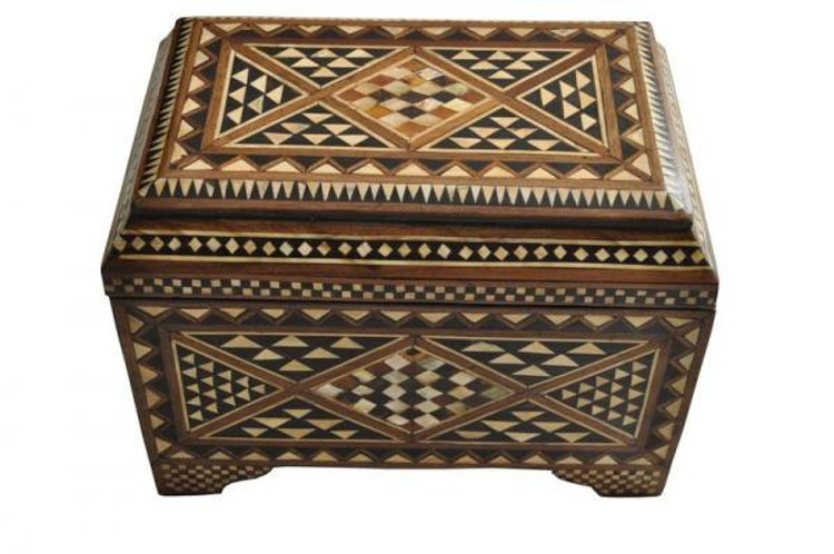 Turkish style Mother of Pearl Inlaid Jewelry Box Chest