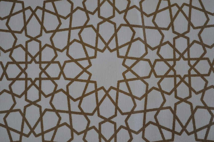 Moroccan furnishing Fabric Textile- Gold Arabesque- 5 yards