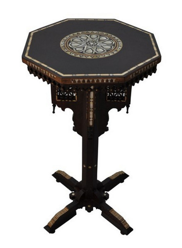 Arabian End Side Table, Mother of Pearl Inlaid