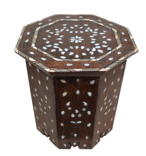 Vintage syrian octagonal end table