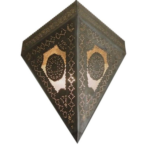 Moroccan Wall Sconce Lamp -silver
