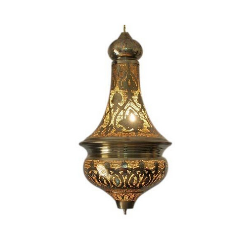 Gold Brass Moroccan Lamp