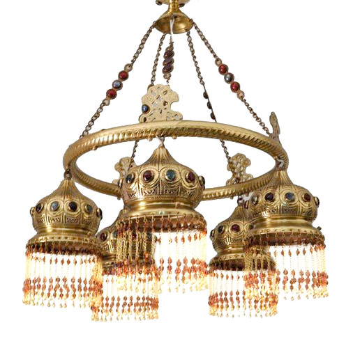 Jeweled Moroccan Chandelier Ceiling Light