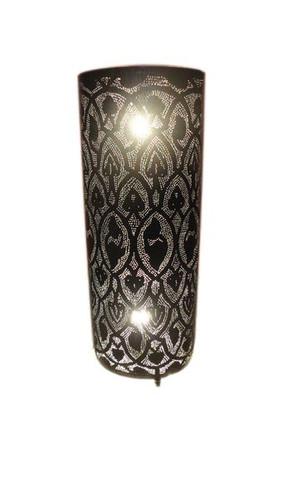 "28"" Black Oxidized Moroccan Floor Lamp"