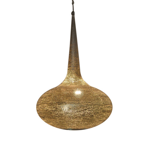 Silver Plated Moroccan Brass Ceiling Lamp