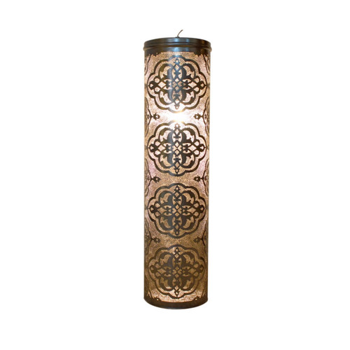 Unique brass tall silver moroccan Pendant lamp