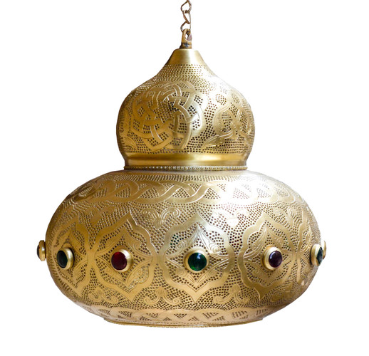 Brass Moroccan Pendant Light-Moroccan Style Hanging Lamp