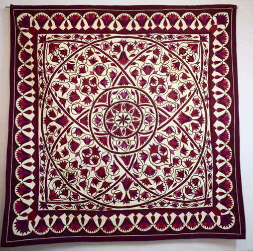 Hand stitched Egyptian applique quilted patchwork/bedspread/ wall hanging tapestry