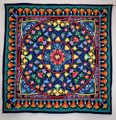 Hand stitched Egyptian quilted applique patchwork/bedspread/ wall hanging tapestry