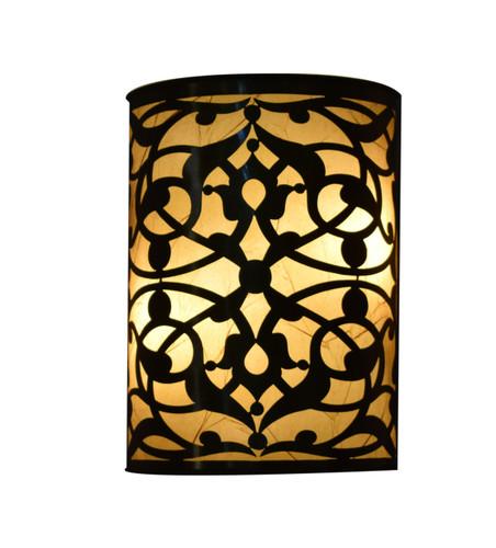2 Moroccan Matte Gold Brass Wall Lamp Sconce ligh