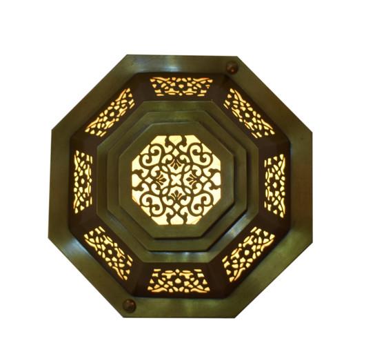 Moroccan Matte Gold Brass Wall Lamp Sconce light-Flush Mount-Ceiling Light Fixture