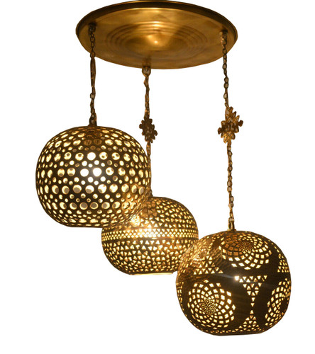 Moroccan Hanging Pendant Lamps-Pendant Lighting cluster
