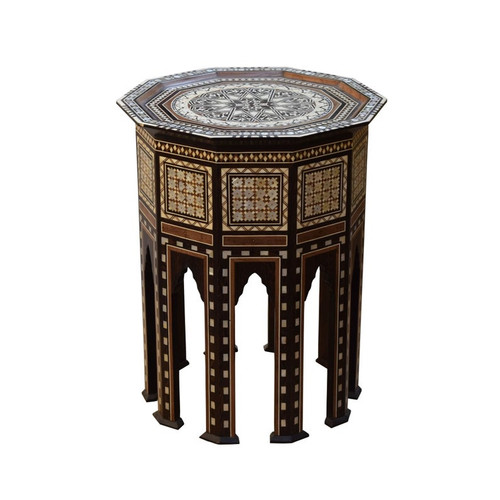 Moroccan inlaid Side Coffee Table
