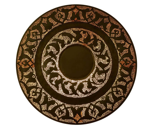 Patterned Moroccan Handcrafted Accent round Wall Lamp