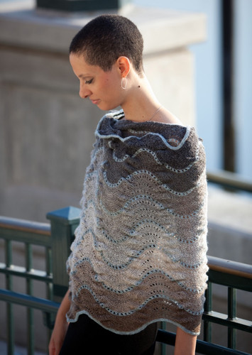 Isager Pattern Shale Shawl -0