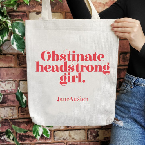 Bookishly Tote Empowering Obstinate Headstrong Girl