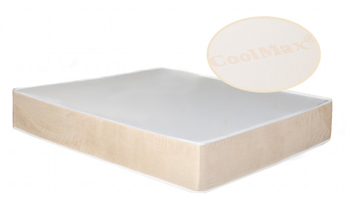 12-inch pillow top CoolMax memory foam mattress. Natural Soy based memory foam and zippered cover in a cool-sleeping memory foam mattress.