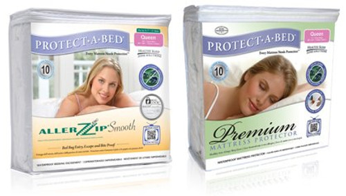 Premium Mattress Protector and AllerZip Mattress Encasement Kit.