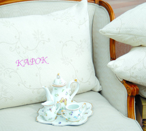 Suite Sleep silk kapok filled pillow. Orgainc silk fill and Cotton