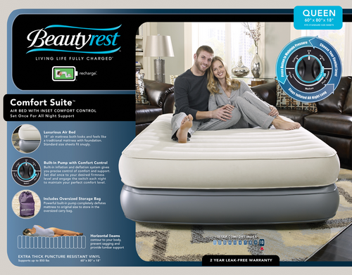 Boyd BeautyRest Queen Comfort Suite Express Bed|boyd specialty sleep, beauty rest, air bed, queen, pillowtop, comfort suite, express bed
