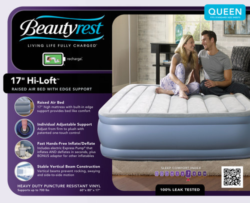 Boyd BeautyRest Hi Loft Express Bed|boyd specialty sleep, beauty rest, air bed, hi-loft, express bed, queen, twin, Double