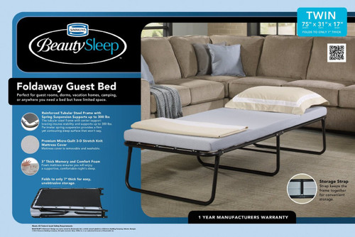 Beauty Sleep Folding Guest Bed|boyd specialty sleep, beautysleep, guest bed, folding bed, twin, single