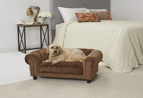 Enchanted Home Pet Melbourne Tufted Sofa|enchanted home pet beds, pet beds, snuggle beds, pet sofa, ultra plush, melbourne tufted sofa