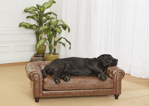 Enchanted Home Pet Wentworth Tufted Sofa|enchanted home pet beds, pet beds, snuggle beds, pet sofa, ultra plush, Wentworth Tufted Sofa