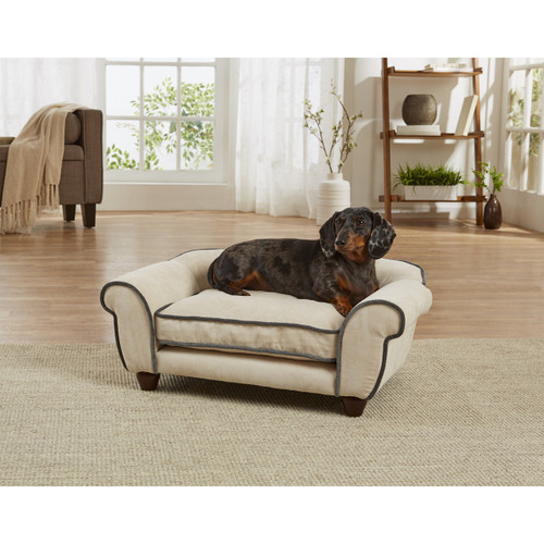 Enchanted Home Pet Cleo Velvet Sofa|enchanted home pet beds, pet beds, snuggle beds, pet sofa, ultra plush, Cleo Velvet Sofa