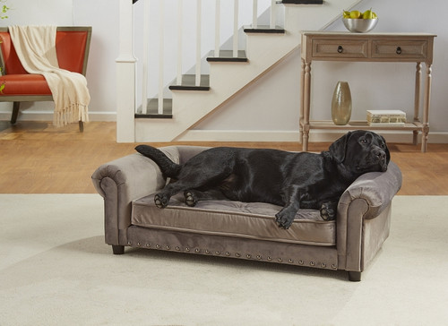 Enchanted Home Pet Manchester Velvet Tufted Sofa|enchanted home pet beds, pet beds, snuggle beds, pet sofa, ultra plush, Manchester Velvet Tufted Sofa