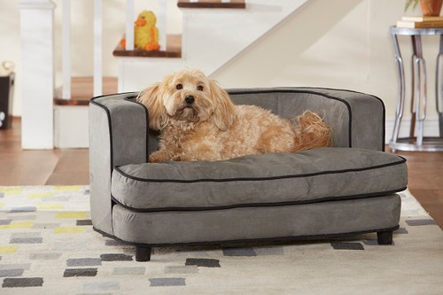 Enchanted Home Pet Cliff Bed Grey|enchanted home pet beds, pet beds, snuggle pet sofa, snuggle beds, pet sofa, cliff bed, grey