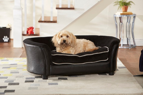 Enchanted Home Pet Ultra Plush Panache Black|enchanted home pet beds, pet beds, snuggle pet sofa, snuggle beds, pet sofa, Ultra Plush Panache, black