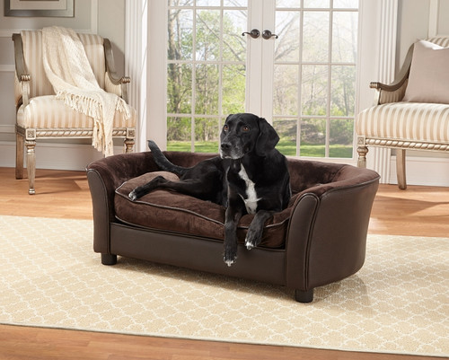 Enchanted Home Pet Panache Brown|enchanted home pet beds, pet beds, snuggle pet sofa, snuggle beds, pet sofa, panache, brown