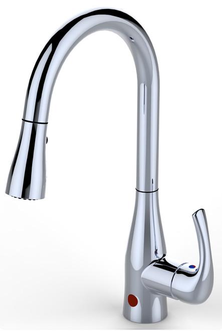 BioBidet FLOW Motion Sensor Kitchen Faucet Chrome Finish|biobidet, kitchen faucet, faucets, motion sensor faucet, flow motion, chrome finish