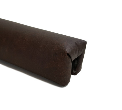 2 pc Waterbed Vinyl Padded Rails - Dark Brown|waterbed padded rails, vinyl, 2 piece, dark brown