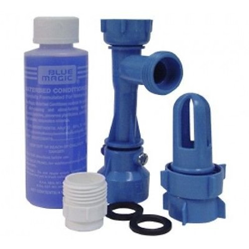 Blue Magic WATERBED DRAIN AND FILL KIT with CONDITIONER|blue magic drain kit, waterbed drain kit, waterbed conditioner, waterbed fill and drain kit, waterbed fill kit, waterbed drain and fill kit, fill and drain kit, waterbed drain