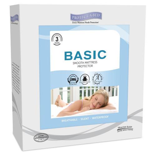 Protect-A-Bed Basic Waterproof Mattress Protector California King Size|mattress cover, mattress pads, mattress protectors, waterproof, beddings, cal king