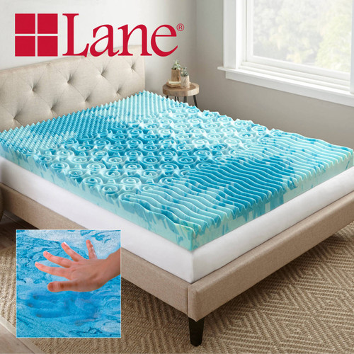 Boyd Specialty Sleep Lane 4 inch Gellux Convoluted Tri-Zone Gel Mattress Topper|boyd specialty sleep, mattress toppers, gel toppers, lane toppers, mattress pad, bed toppers