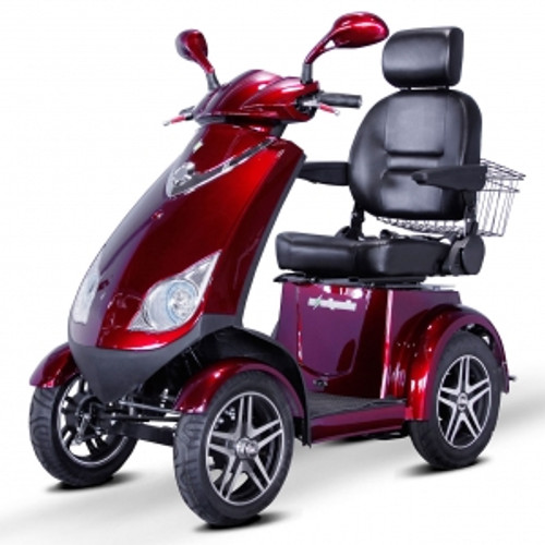 EWheels EW-72 4 Wheel Heavy Duty 500lbs. Wt. Capacity Scooter with Electromagnetic Brakes|ewheels, mobility scooter, ew-72, electromagnetic brakes, heavy duty scooter, 4 wheel scooter