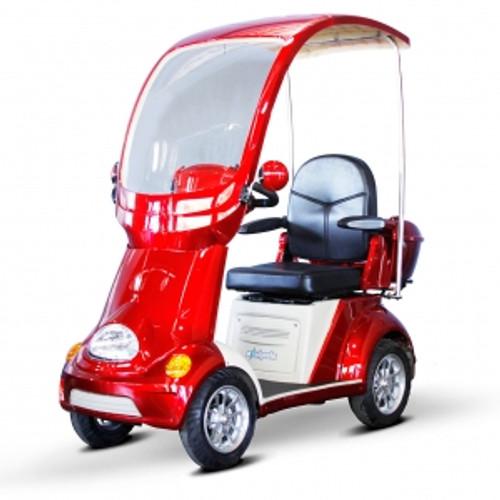 EWheels EW-54 4 Wheel Full Covered 500lb. Wt. Capacity with Electromagnetic Brake Scooter|ewheels, mobility scooter, ew-54, 4 wheel scooter, covered scooter, electromagnetic brake, red, orange, green