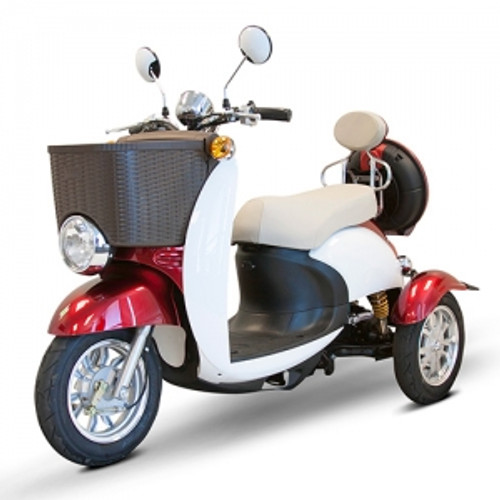 EW-11 Sport Euro Style Scooter by Ewheels|ewheels, ew-11, redwhite, bluewhite, electric scooter, mobility scooters, scooter bike, electric scooter for adults, 3 wheel scooter, scooters for sale, motor scooter, scooter electric, new scooters, euro style