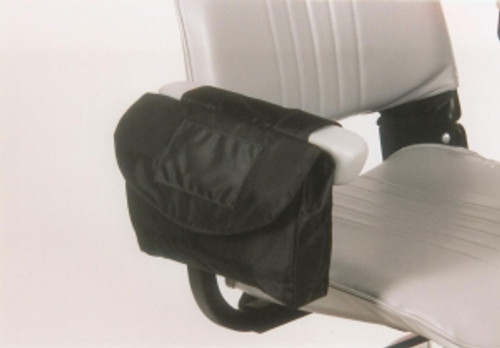 Saddle Armrest Bag by Ewheels|ewheels, scooter accessories, mobility scooter accessories, accessories for mobility scooters, saddle armrest bag, standard, large, scooter bag, mobility scooter bags