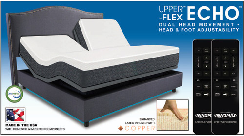 Upper Flex Echo Mattress Enhanced Latex Infused With Copper