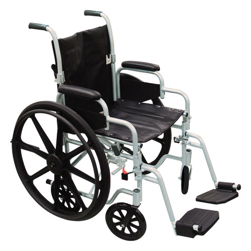 Poly Fly High Strength Lightweight Wheelchair/Flyweight Transport Chair Combo
