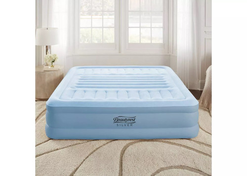 "Simmons Beautyrest Silver 18"" Lumbar Supreme With Everfirm Polyfusion Queen"
