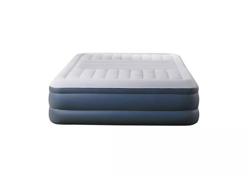 "Simmons Beautyrest Silver Lumbar Lux 18"" Air Mattress With Built In Pump Queen"