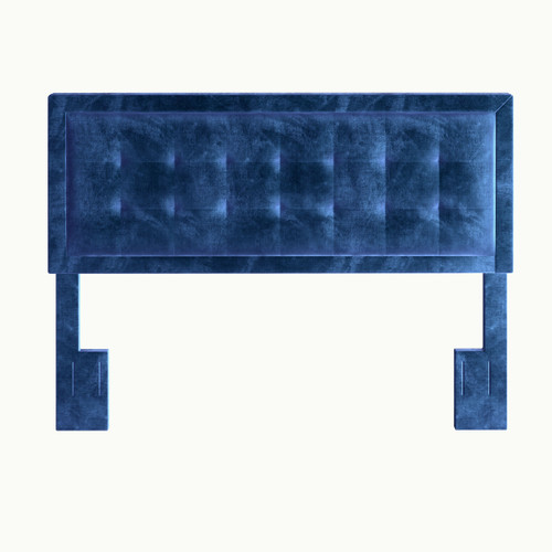 Zia Velvet Upholstered Headboard Blue